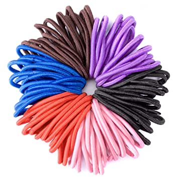 Coloured Hair Elastic Bobbles Endless Bands School Girls Baby Ponytail Holder