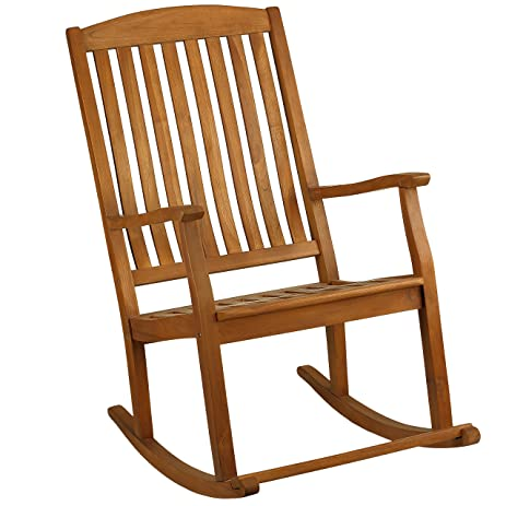 Amazon.com : Bare Decor Large Rocking Chair in Teak Wood, Indoor ...