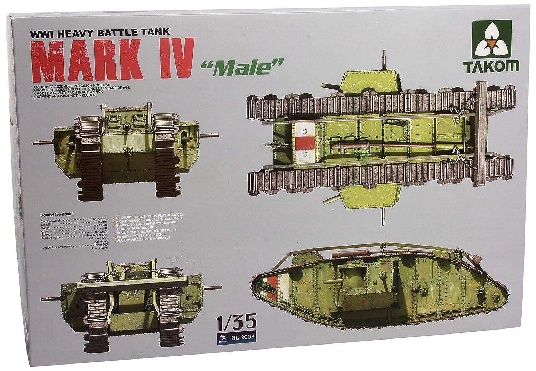 TAKOM TAK2008 - 1/35 WWI Heavy Battle Tank Mk. IV Male