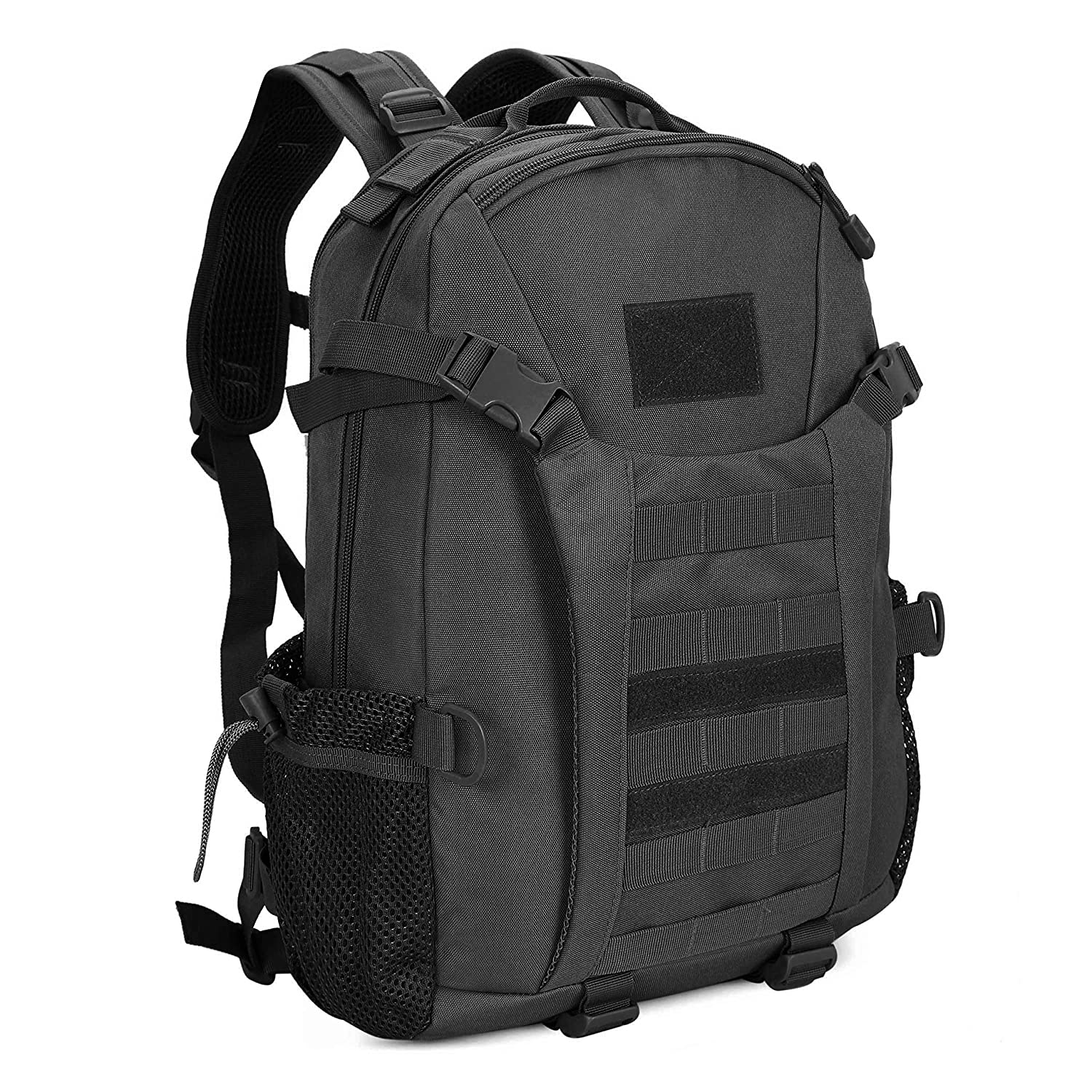 Amazon.com   Tactical Military Backpack 35L Army Assault Pack Waterproof  College School Rucksack Sports Travel Hiking Camping Trekking (Black)    Sports   ... 47505f7efbedb