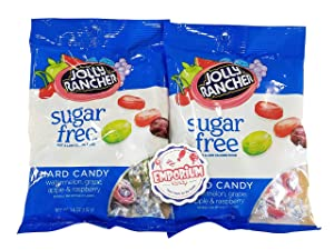 Sugar Free Jolly Ranchers - Two Pack of 3.6 ounce bag with Refrigerator Magnet