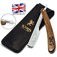 Cut Throat Razor for Men by The Kings Cutthroat® - Men's Cutthroat Shaving Straight Slider – Leather Travel Pouch and…
