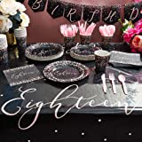 Sparkle and Bash 18th Birthday Party Supplies Set