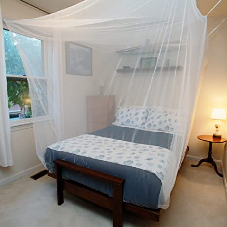 Tedderfield Premium Mosquito Net For Queen/Double/Single Bed By, White  Netting Indoor