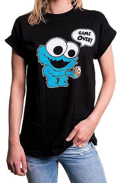 MAKAYA Top Monstruo Baby Manga Corta Talla Grande - Galletas - Camiseta  Friki Divertida para Mujer  Amazon.es  Ropa y accesorios 93cfbc4c906