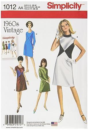 Simplicity 1012 Größe AA und Miss 1960 \'s Vintage Kleider ...