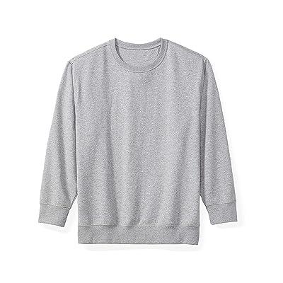 Essentials Men's Big & Tall Crewneck Fleece Sweatshirt fit by DXL: Clothing