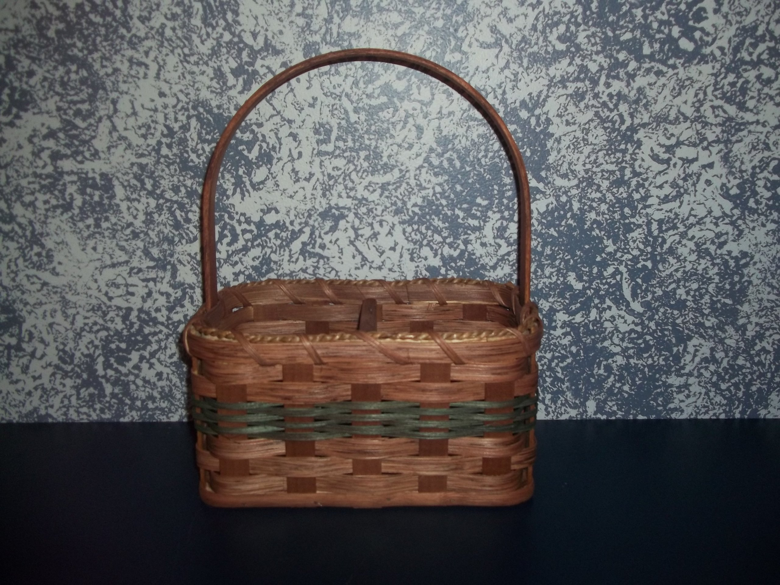Handmade Jam/jelly Basket with Divider. Measures 9 1/2'' X 5 1/2'' X 5'' Tall. This Country Basket Will Add a Touch of Rustic Charm to Your Dining Room Table Holding Your Jams and Jellies.