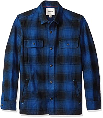 0b4472225b6 Amazon.com  Goodthreads Men s Heavyweight Flannel Shirt Jacket  Clothing