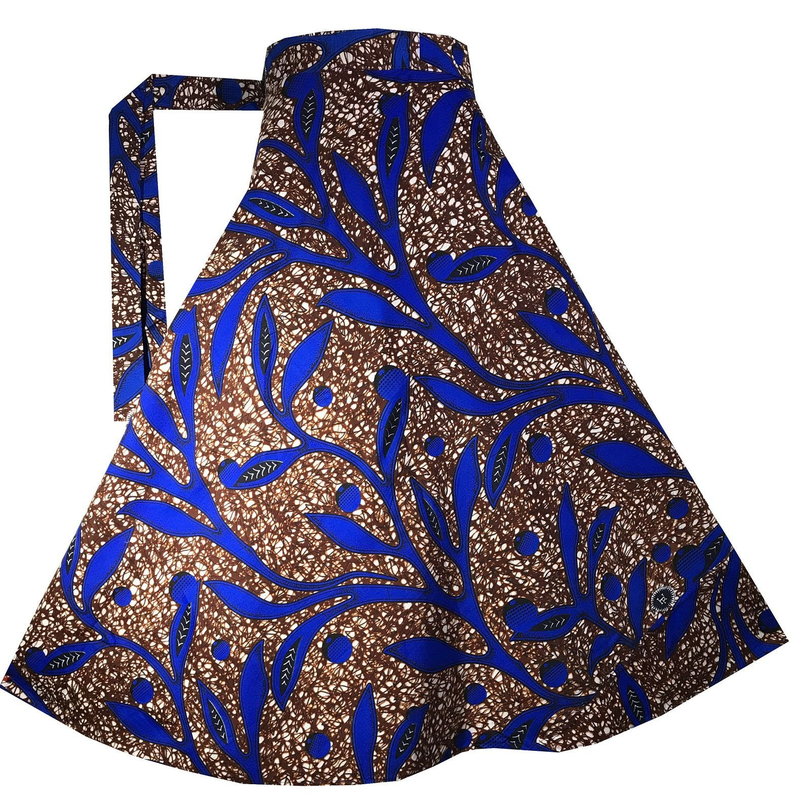 Decoraapparel Wrap Around Skirts African Wax Print Women's Flared Skirt Cotton Maxi Bright Colors by Decoraapparel (Image #1)