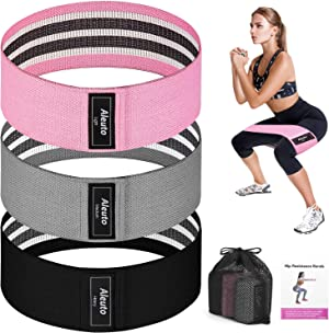 Resistance Bands for Legs and Butt,Upgrade Thicken Widen Non-Slip Booty Workout Bands,Stretch Exercise Loops, Resistance Bands Set, Fitness Bands,Squat Glute Hip Training