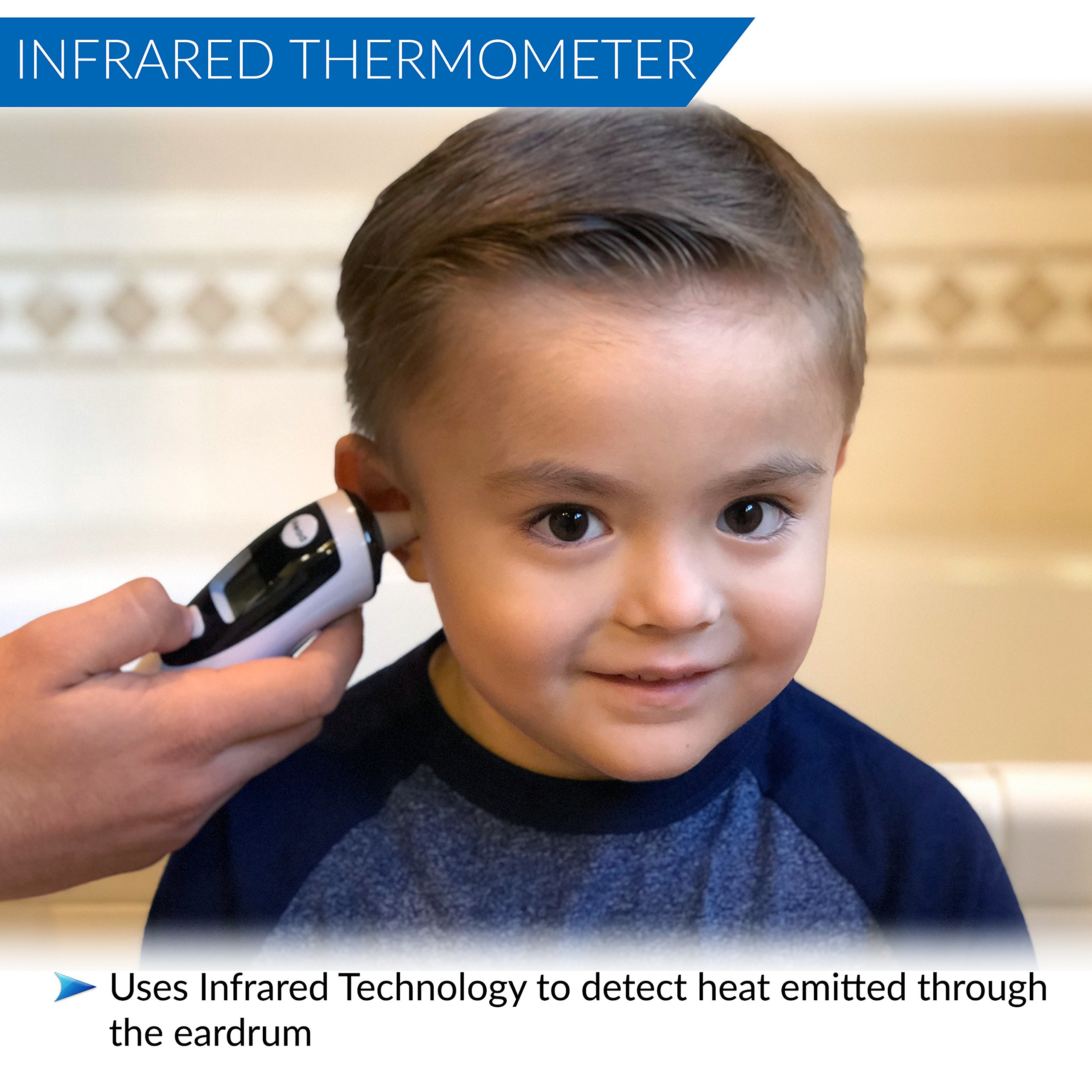 Champion IR - Medical Ear Thermometer With Forehead Function - Infared Technology & LCD Screen For Improved Accuracy by Champion IR (Image #5)