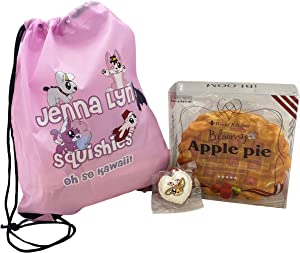 iBloom Apple Pie Squishy Bundle from Jenna Lyn Squishies! (with Peppermint Cocoa Macaron and Drawstring Bag).