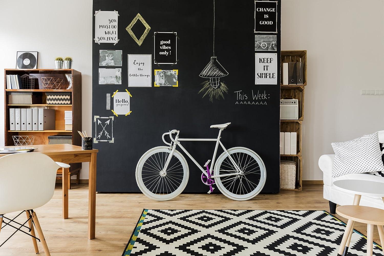 Tafel Wandfarbe wanders24 tafelfarbe 1liter schwarz matte wandfarbe in 15
