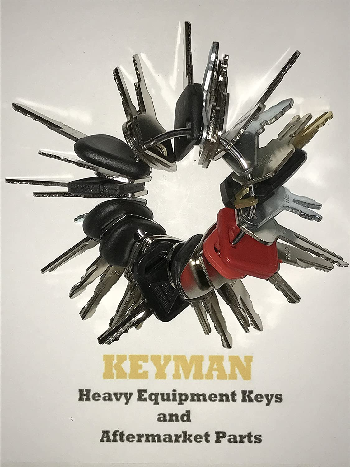 Keyman 33 Keys Heavy Equipment 33 Key Set / Construction Ignition Keys Set