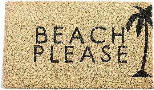 Printed Coir Doormat – Summertime – Painted Beach Please