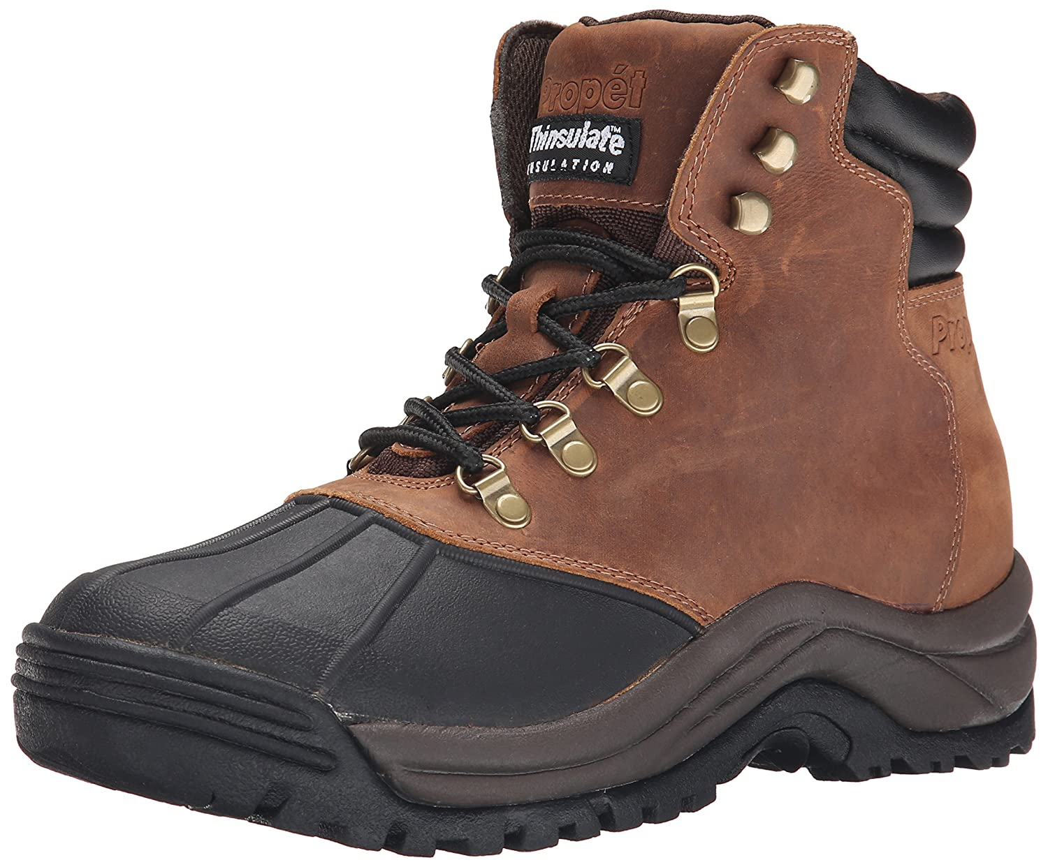 Propet Men's Blizzard Mid Lace Brown/Black boots 7 M