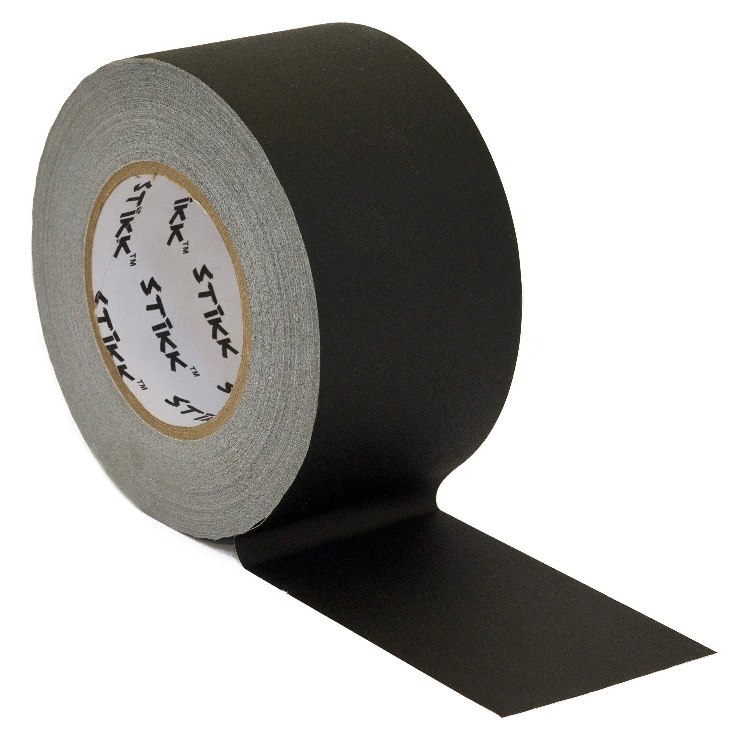 3'' x 60 Yard 55 Meter Black Gaffers Tape No Residue Cloth Matte Finish Rubber Adhesive