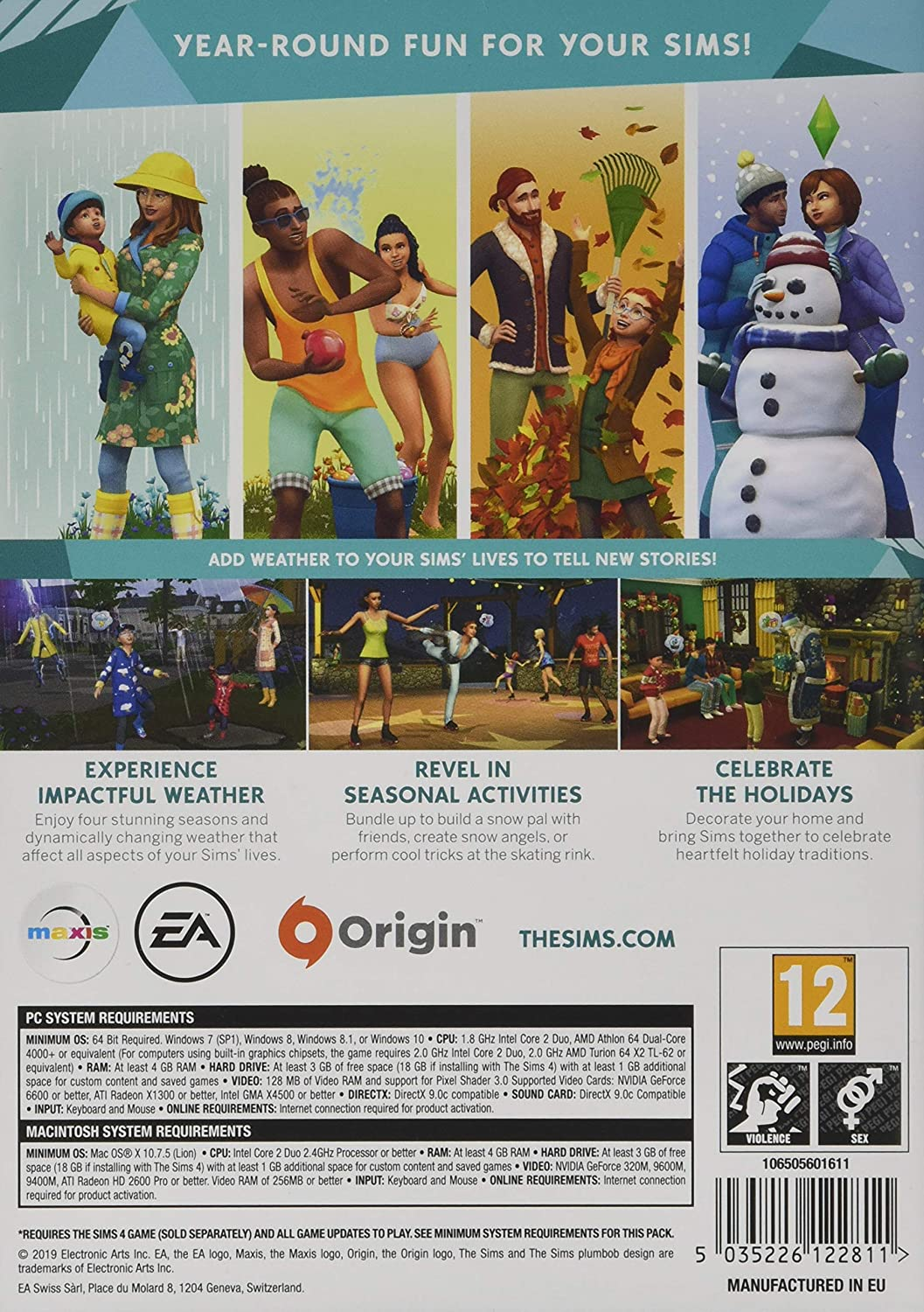 The Sims 4 Seasons PC Download Code [Importación inglesa]: Amazon ...