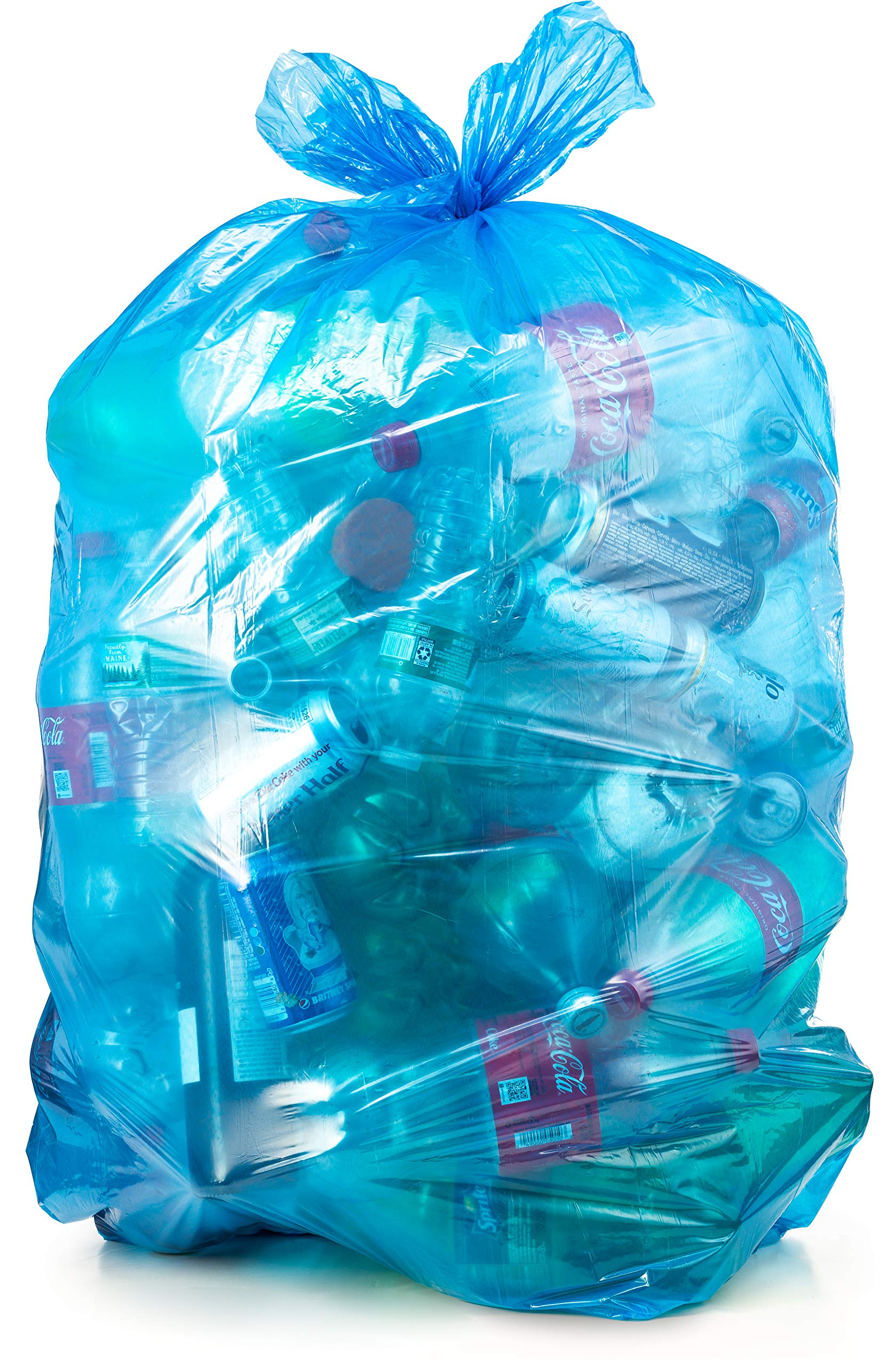 Amazon Com 55 60 Gallon Clear Plastic Trash Bags Large