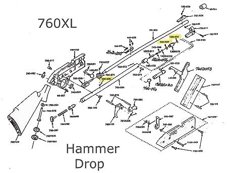Amazon Com Crosman 760xl 760 Xl Hammer Drop O Ring Seal Kit