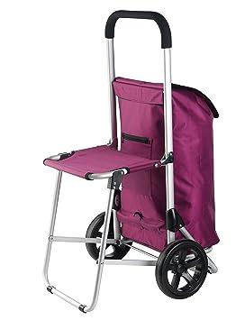 Nouveau Chariot Chariot trolley Shopper avec siège rabattable Noir ou Rose 30L noir NADKjlJ