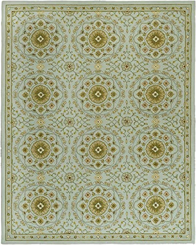 Safavieh Chelsea Collection HK378A Hand-Hooked Teal and Green Premium Wool Area Rug 8'9″ x 11'9″