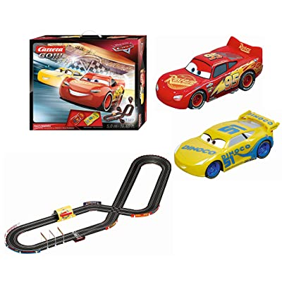 Carrera GO Carrera GO!!! Disney Pixar Cars Fast Friends Slot Car Race Track Set Lightning McQueen/Dinoco Cruz: Toys & Games