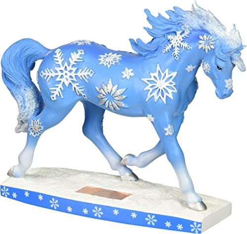 Westland Giftware Horse of A Resin Figurine, Snowflakes