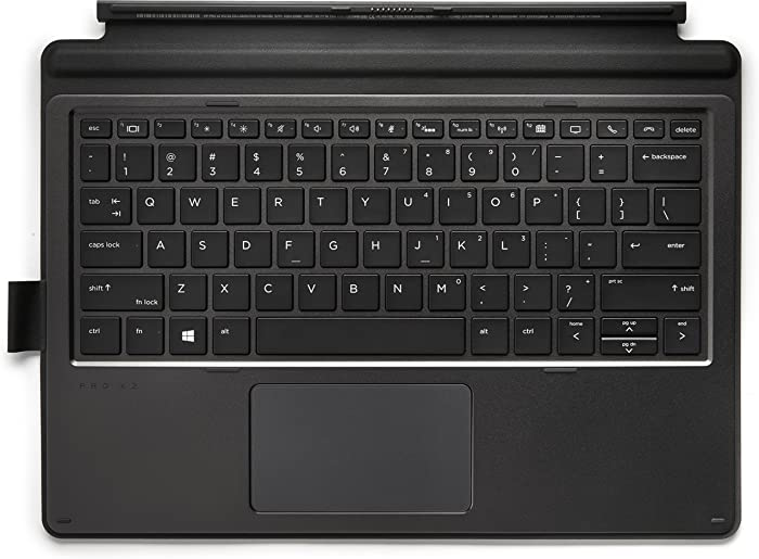 HP 1FV38AA Collaboration - Keyboard - with Touchpad - Backlit - Dock - US - Black - for Pro X2 612 G2