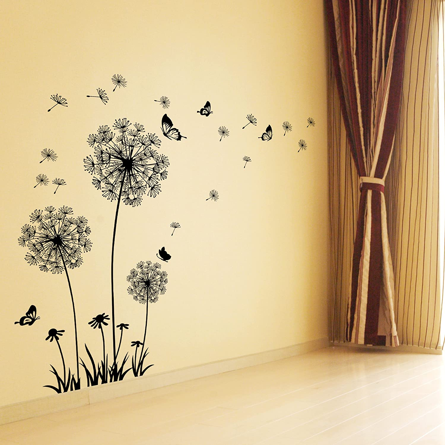 Amazon.com: Dandelion Wall Decal - Wall Stickers Dandelion Art Decor ...