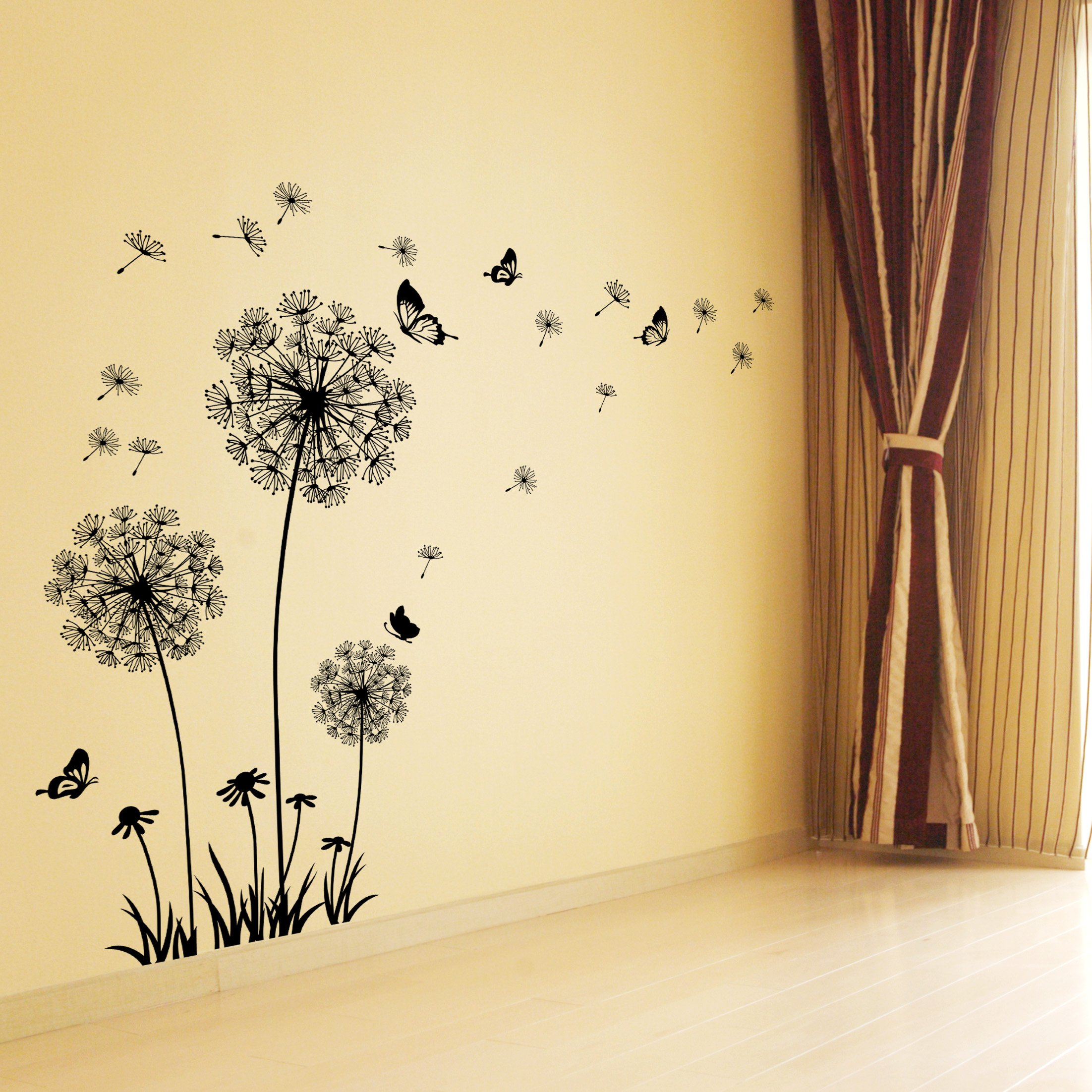 Dandelion Wall Decal - Wall Stickers Dandelion Art Decor- Vinyl ...