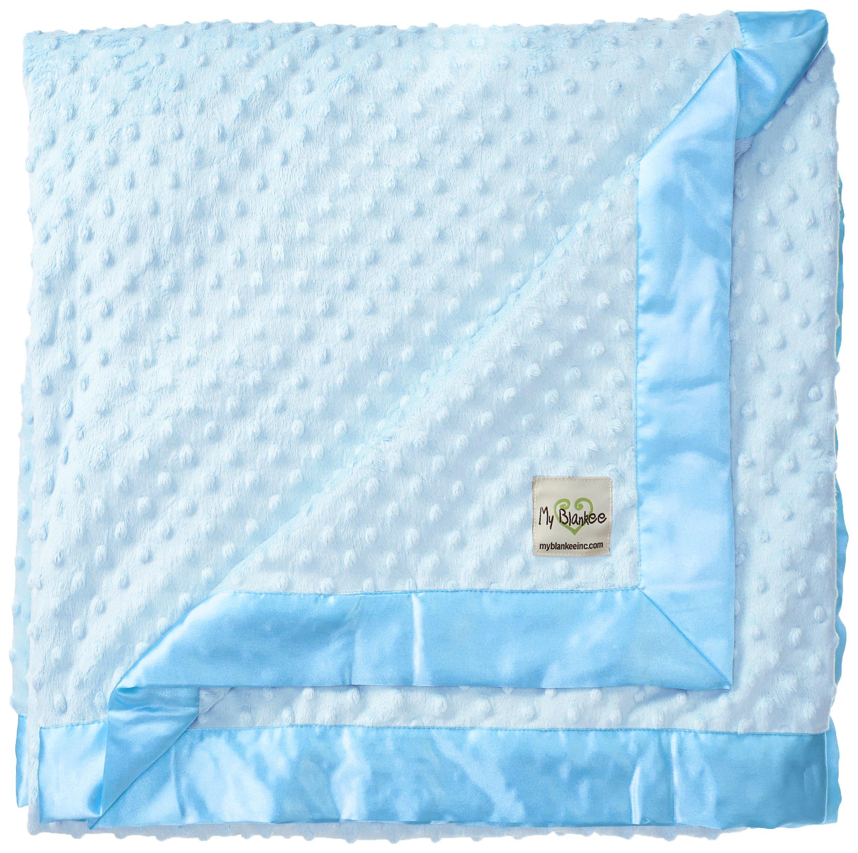 My Blankee Minky Dot Extra Large Throw Blanket, Blue, 59'' x 85''