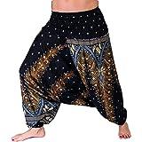 Mienloco Damen Haremshose Jumpsuit Aladinhose in Verschiedenen Designs