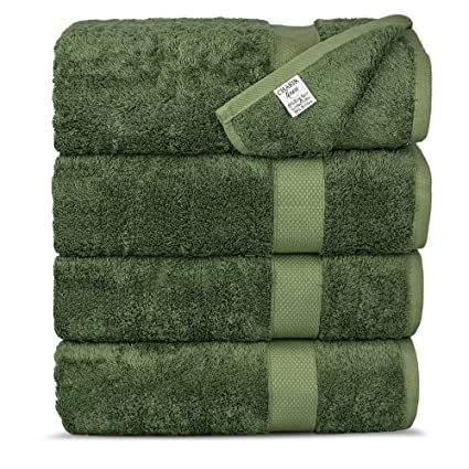 Chakir Turkish Linens Luxury Ultra Bamboo Bath Towel Set-Soft, Absorbent and Eco-Friendly