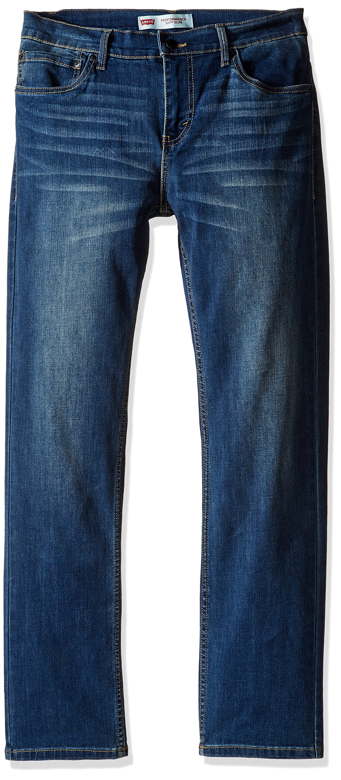 Levi's Boys' Big 511 Slim Fit Performance Jeans, Evans Blue, 16