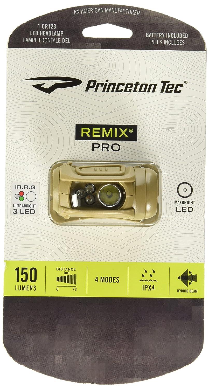 Princeton Tec Remix Pro Headlamp with Red Green IR White LEDs, MultiCam