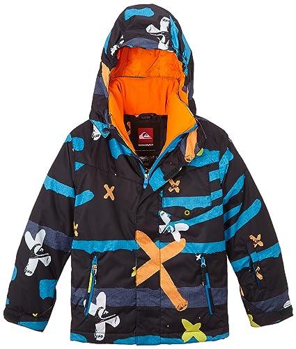 Quiksilver Mission Printed Y - Chaqueta de esquí para niños, color gris (little)