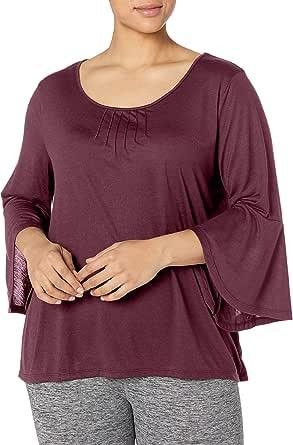 Just My Size Womens OJ938 Pintuck Top 3/4 Sleeve Shirt