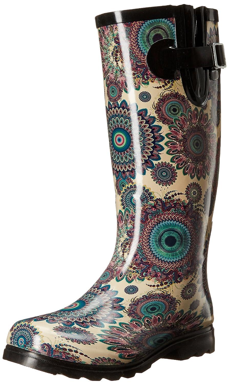 Nomad Women's Puddles Rain Boot B01B660826 9 M US|Blue/White Flower Burst