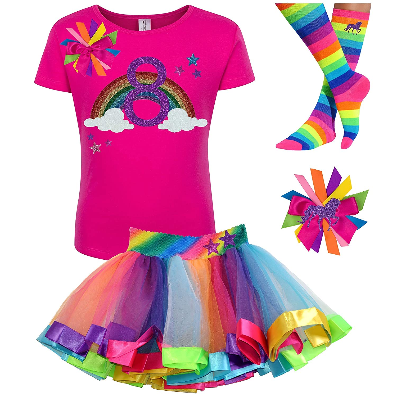 Unicorn Birthday Star T-Shirt Unicorn Outfit Gifts for Girls