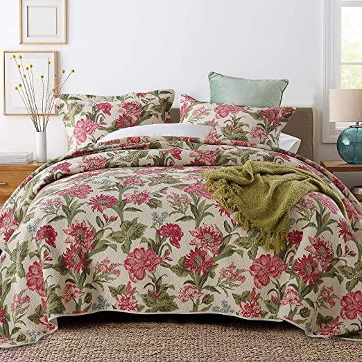 Amazon.com: ENJOHOS Queen Size 3 Piece Quilt Set Reversible Fabric