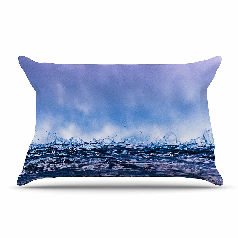 30 x 20 Pillow Sham Kess InHouse Colin Pierce Falling Sky Blue Lavender Photography