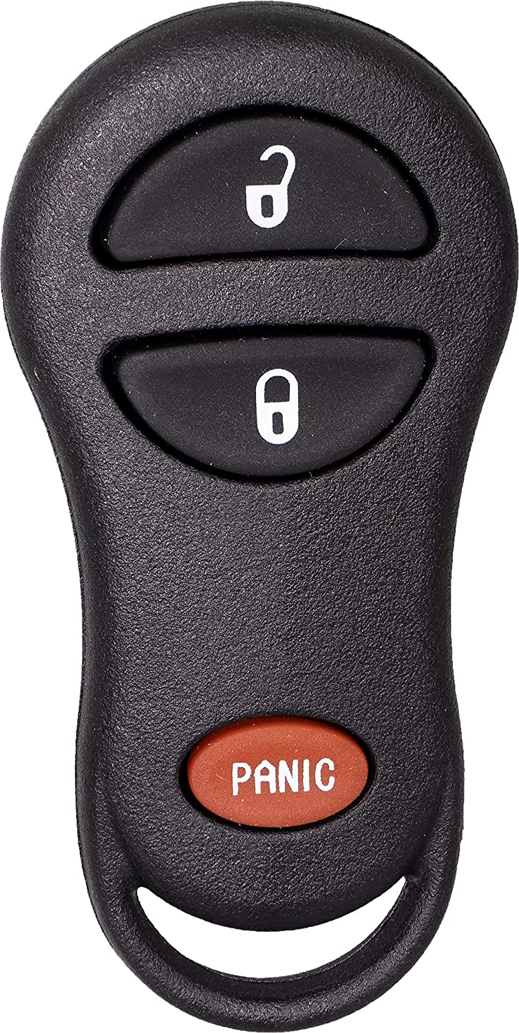 APDTY 141467 Keyless Entry Remote Transmitter Key Fob Fits 1999-2000 Durango or Dakota 1999-2003 Dodge Ram 1500 2500 3500 Pickup Replaces 3-Button; Replaces 56045497AB, 56045497A, 56045497AA