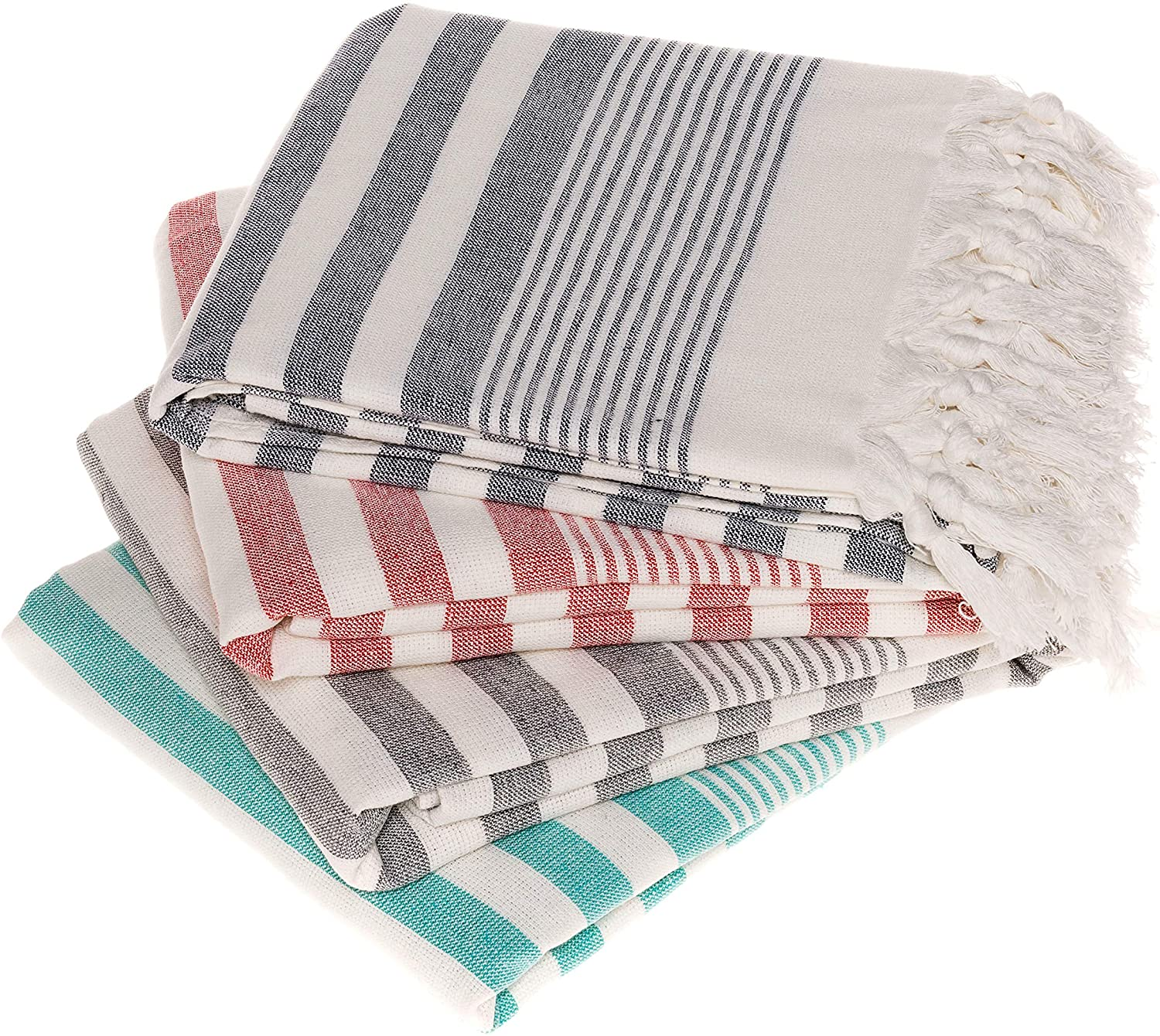 Turkish Beach Towels Set of 4 Beach Towel Oversized 100% Cotton