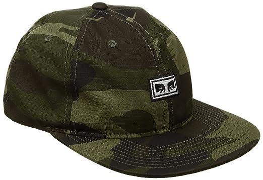 e821ca1f64f Amazon.com  Obey Men s Overthrow 6 Panel Snapback Hat