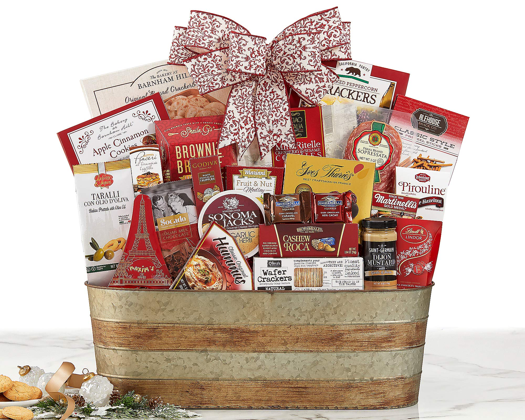 Van's Gifts Celebration Party Pick Gourmet Food Gift Basket With Ribbon. It's A Party In a Bag. by Vans Gifts
