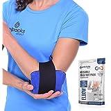 GelpacksDirect Bolsa de gel para aplicar frío y calor - Con banda de compresión - Para codo de tenista y golfista