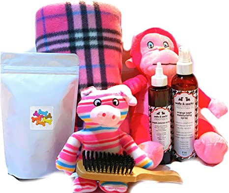Wolfe & Sparky Gift Boxed Deluxe Pink Dog Gift Set
