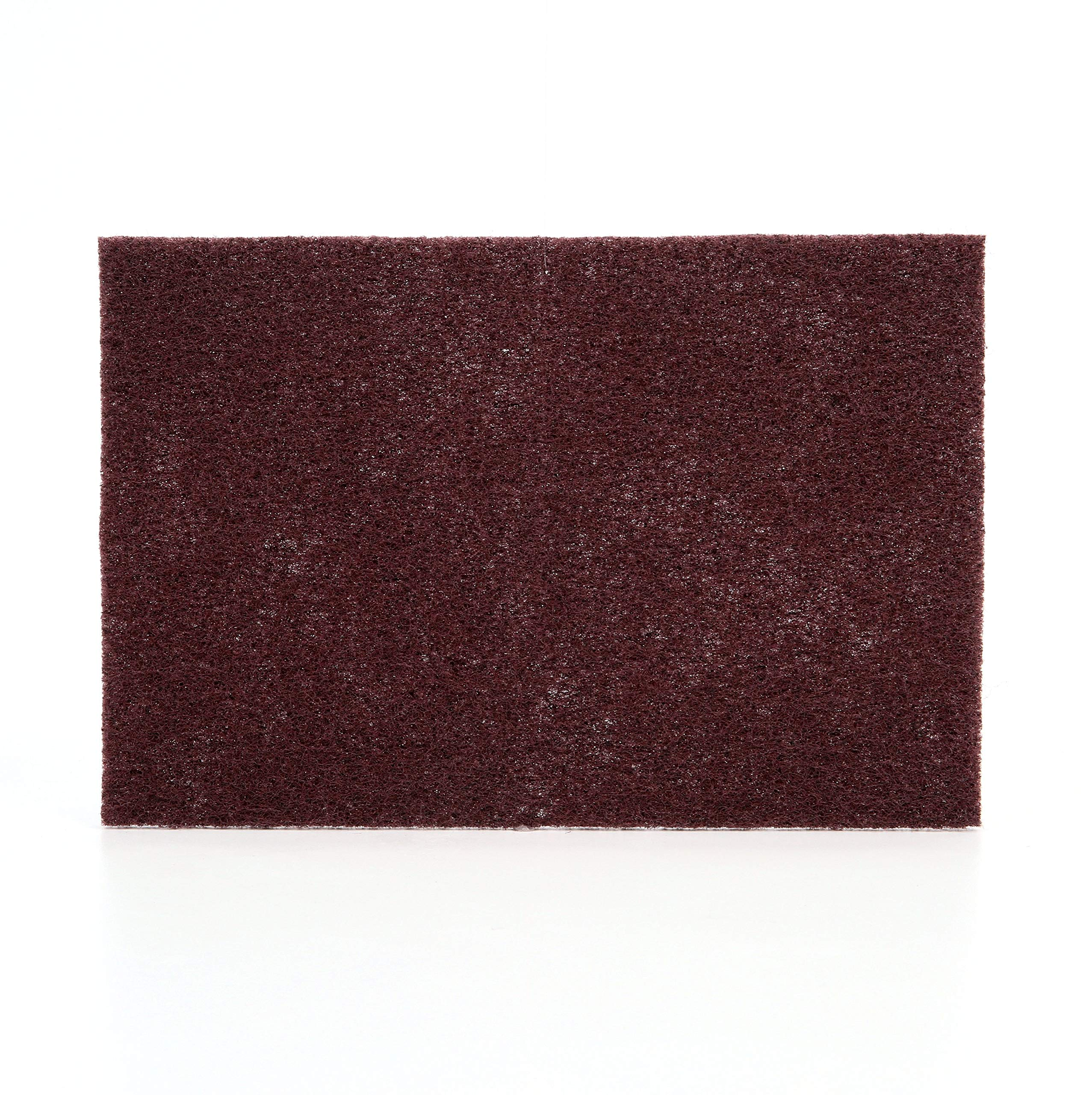 Scotch-Brite(TM) Production Hand Pad 8447, Aluminum Oxide, 9'' Length x 6'' Width, Very Fine Grit, Maroon  (Pack of 60) by Cubitron